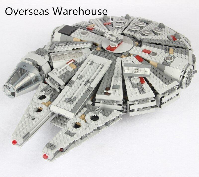 Legoing Estrella Wars Figura Blocks The Force Awakens Millennium Falcon nave
