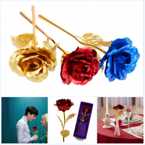 Gold-Plated-Real-Rose-24K-Dipped-Flower-Valentine-039-s-Day-Love-Gift-For-Her-Decor