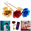 Gold-Plated-Real-Rose-24K-Dipped-Flower-Valentine-039-s-Day-Love-Gift-For-Her-Decor thumbnail 1