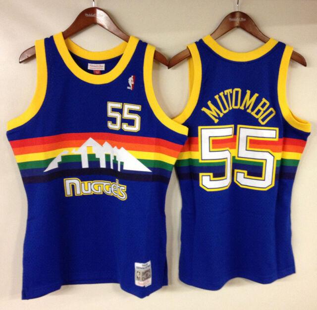 f80197fd3 Dikembe Mutombo Denver Nuggets Mitchell   Ness 1991-92 Authentic Jersey  Rainbow