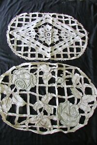 Pretty-Pair-Antique-French-Hand-Embroidered-Cutwork-Linen-Cushion-Covers-c1920