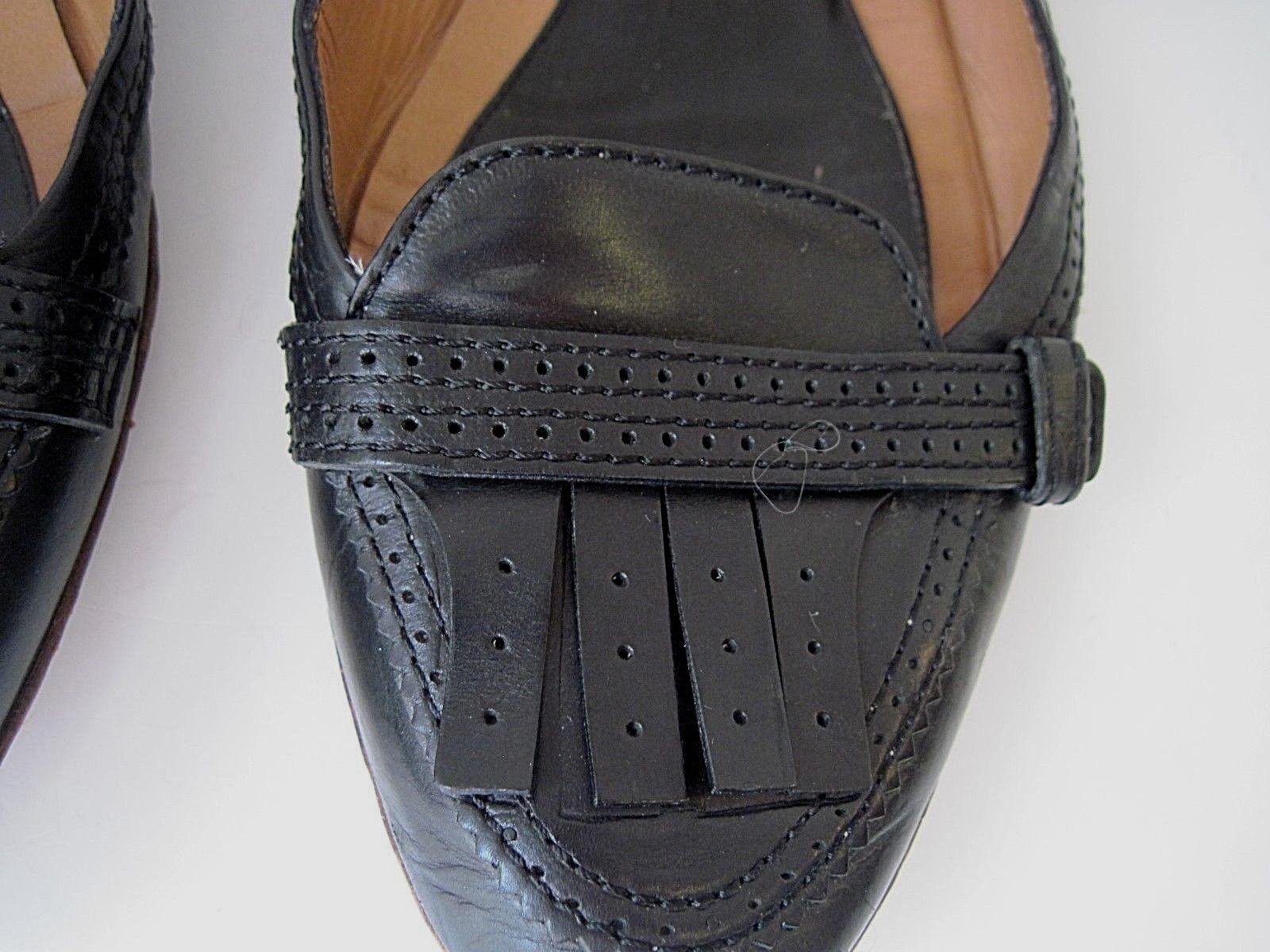 Givenchy Negro Cuero Talla Planos Borla Diseño Talla Cuero 38 1 2 a20f11