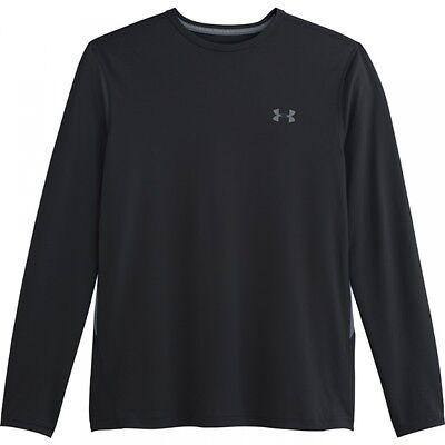 Under Armour Men's Heatgear 2.0 Longsleeve Loose Fit Tech T Shirt BLACK 1249033