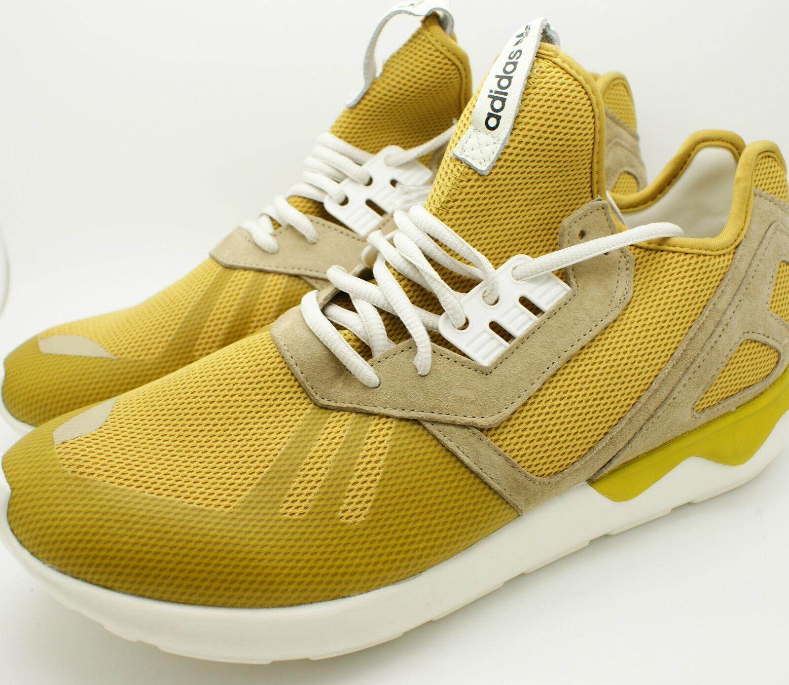 Adidas Originals Mens Tubular Runner Sneaker B23886 Shoe Yellow x Hemp B23886 Sneaker 12 NEW 0ad61c
