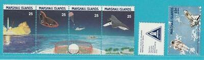 DemüTigen Marshall Inseln 1988 ** Postfrisch Minr. 199-203 Nasa Raumfahrt Um Der Bequemlichkeit Des Volkes Zu Entsprechen