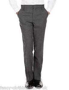 Grey Boys school Trousers Elasticated Waist Stormwear Classic Fit Stain Defense