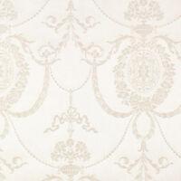 513011 - Trianon Damast Creme, Metallisch Weiß Galerie Tapete