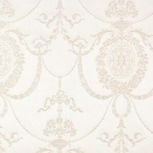 513011-Trianon-Damast-creme-Metallisch-Weiss-Galerie-Tapete