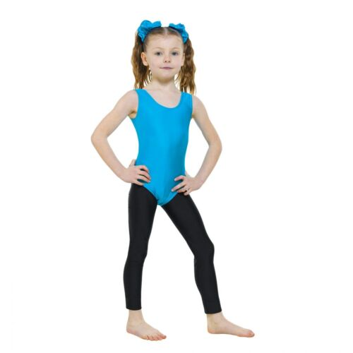 8 COLOURS CLASSIC SLEEVELESS NYLON LYCRA LEOTARD WITH PLAIN FRONT IN