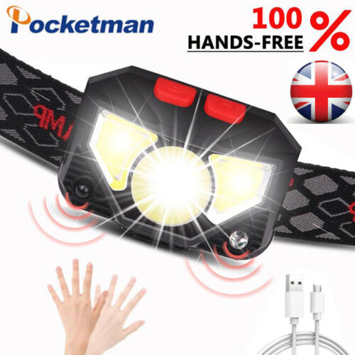 Head Light Torch Lamp Headlamp LED Rechargeable Flashlight 60000LM With 6 Modes