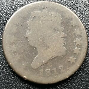1812-Large-Cent-Classic-Head-One-Cent-1c-Rare-Circulated-17717