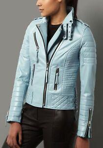 Women-039-s-Genuine-Lambskin-Leather-Motorcycle-Slim-fit-Designer-Biker-Jacket-SA4