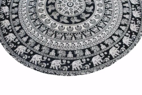 Indian Table Round Cover Table Decor Wedding Banquet Beach Animal Print