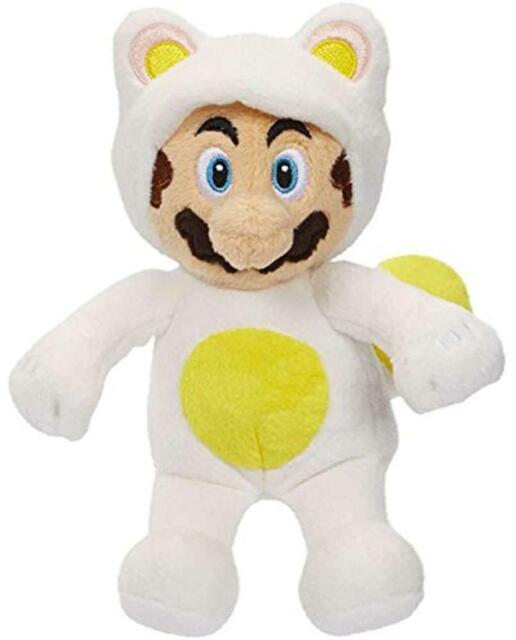 Mario Bros U Wave 7 White Tanooki Mario Plush