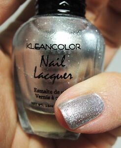 Image Is Loading 1pc Kleancolor Nail Polish Lacquer 7 Pearl Silver