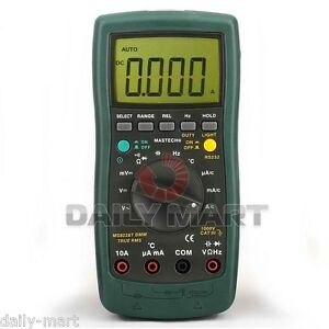 Mastech MS8226 Auto Range Digital Data Hold Multimeter DMM + RS232 Cable