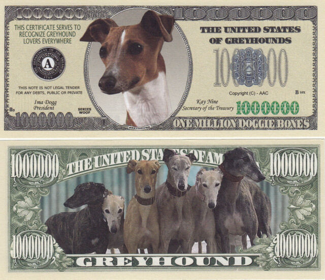 2-DOG SHELTER Collectible-Fake-Money RESCUE Dollar Bill Novelty Y