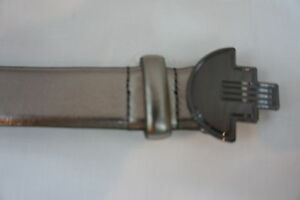 Unbranded Petite Belt Sz 12P Silver Nickel Man Made Material 5 Hole