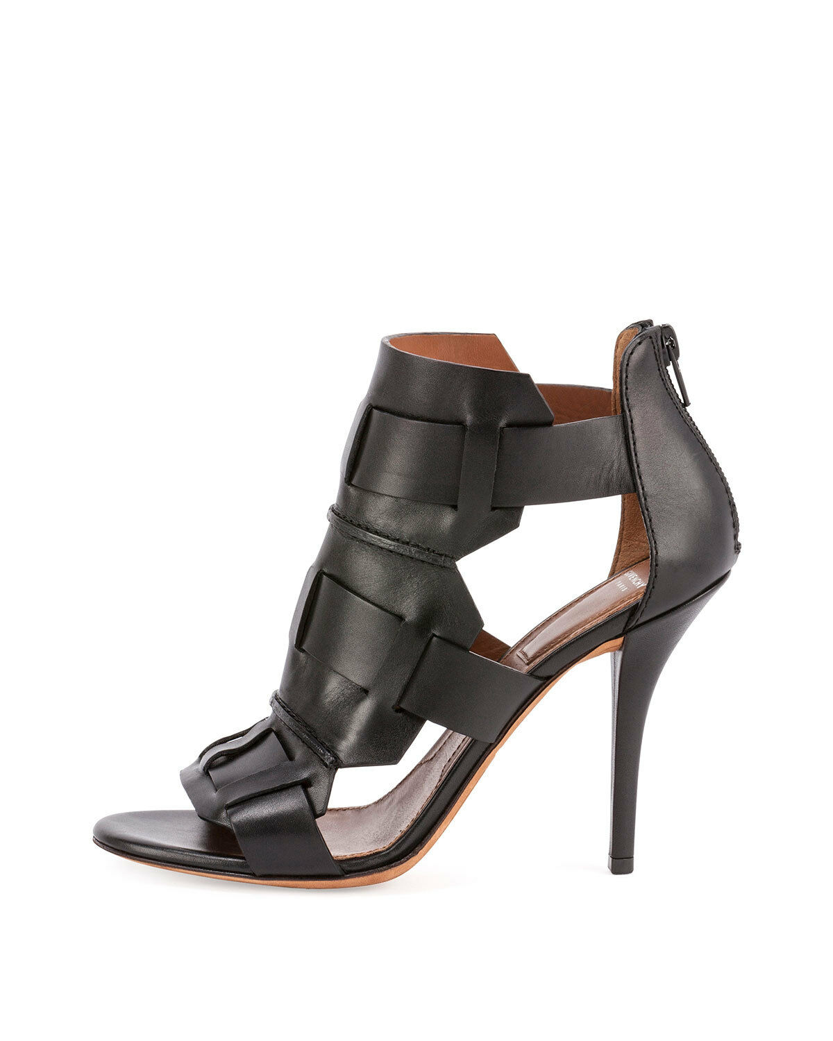 975+ Givenchy Woven Cage Black Leather Open Toe Sandal Heels shoes 37   7