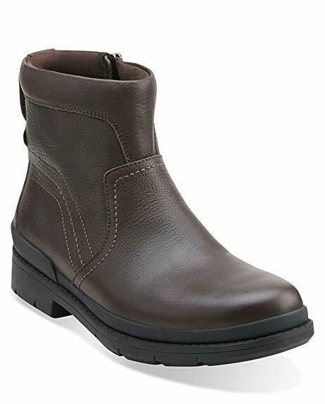 Clarks Mens  KIMBALL ZIP  braun WARM-LINED  STRONG-SOLE  UK 8,9,10,11 G