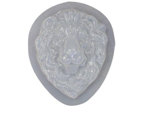 Decorative Lion Head Face Plaque Plaster or Concrete Mold 7214 Moldcreations