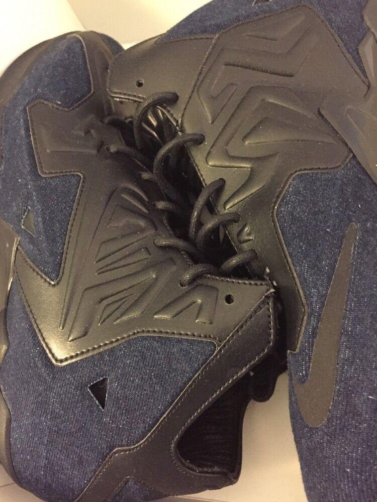 Men's Nike Lebron XI EXT Denim QS Size 8.5 (659509 004) No Box Top