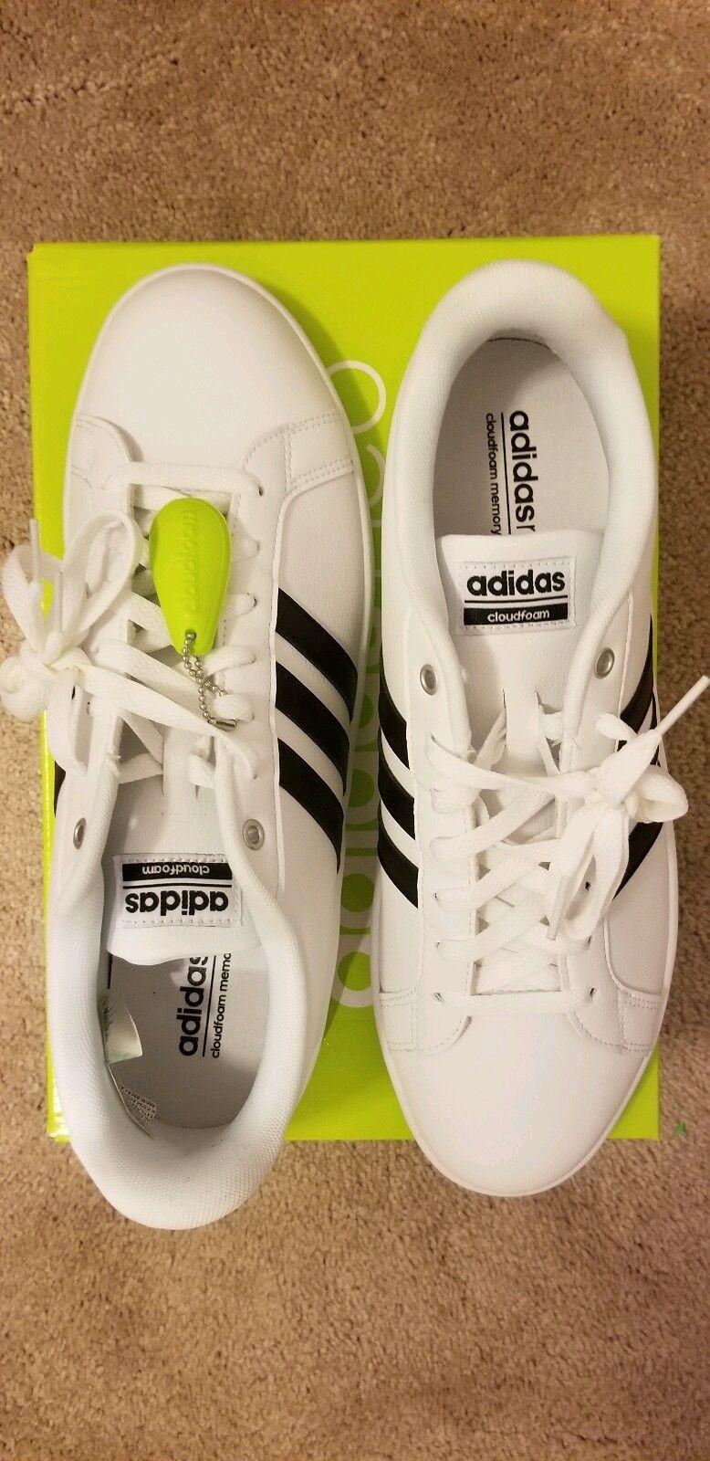 Adidas NEO Cloudfoam Advantage Fashion Sneaker White White NEW