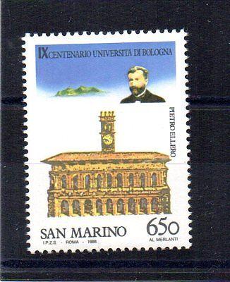San Marino Fein Repubblica San Marino 1988 Universita' Di Bologna 650 Lire Unif 1229 Mnh**. Briefmarken