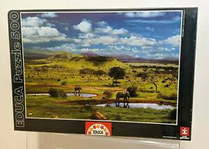 Educa-500-Rompecabezas-500-Piezas-Parque-Nacional-Tsavo-Kenia-2012-Nuevo-Sellado
