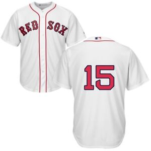 Details about MLB Majestic Official Boston Red Sox Home White Jersey  Dustin  Pedroia  15 82b40932646