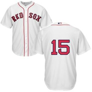a1087633ada MLB Majestic Official Boston Red Sox Home White Jersey  Dustin ...