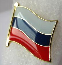 Russia / Russian Россия / Русский  - Flag Pin Badge  High Quality Gloss Enamel
