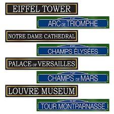 4 French Street Signs Eiffel Tower Paris France Birthday Wedding Party Decor