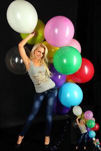 10 TOLLE 45-48cm Ø Luftballons bunt BWS //RIFCO PREMIUM * 10 x Ballons bunt