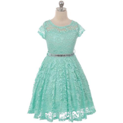 MINT Flower Girl Dress Wedding Pageant Dance Bridesmaid Gown Recital Formal Prom