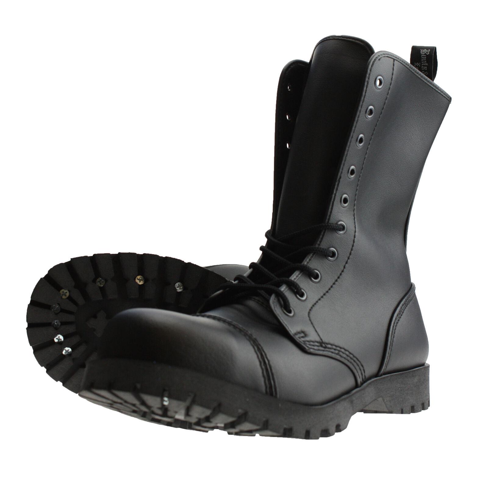 Boots and Braces 10-Loch Stiefel Vegetarian Vegi Vegane Springerstiefel black