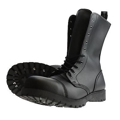 Boots And Braces 10-loch Stiefel Vegetarian Vegi Vegane Springerstiefel Schwarz