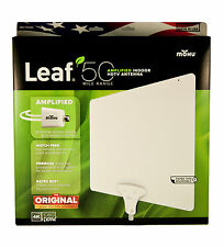 Mohu Leaf 50 TV Antenna Indoor Amplified 50 Mile - 4K HDTV Ready - White