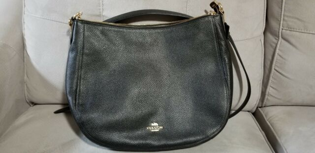 e56e121ff44a New Coach F31399 Elle Hobo Pebble Leather Handbag Purse Satchel Bag Black