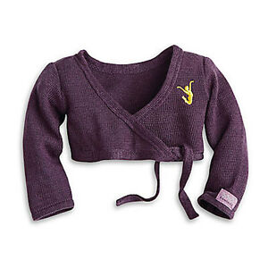 """NEW American Girl Isabelle's Purple Wrap Sweater for 18"""" Dolls Dance Dancer"""
