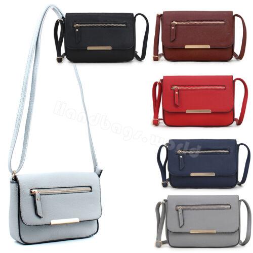 Women Cross Body Messenger Bag Clutch Handbag Ladies Faux Leather Shoulder Bag