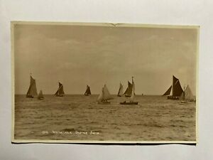POSTED 1932 VINTAGE RP POSTCARD - WHITSTABLE OYSTER BOATS   (KK1360)