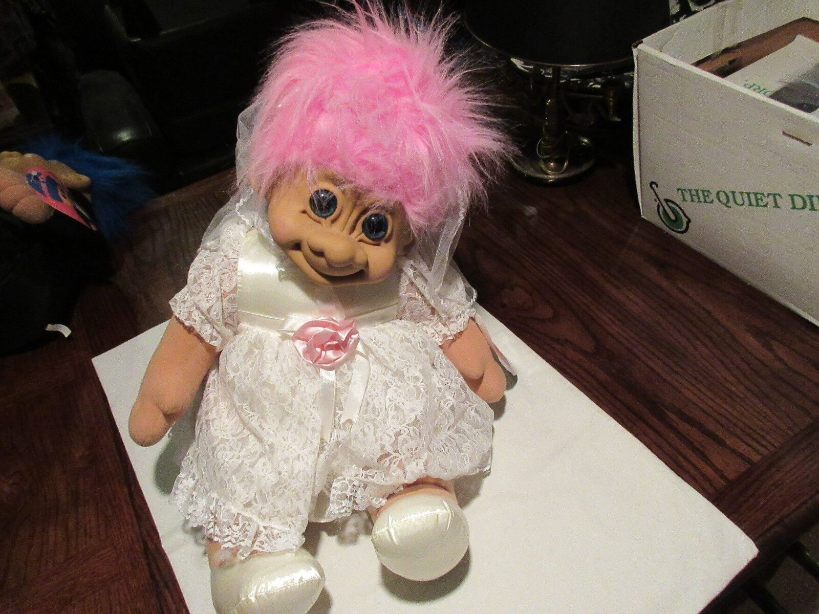 """Troll , Bride and Groom Dolls , 24"""" X 16"""" , Old / New I"""