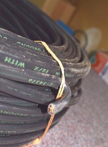 CAPEX Cable Wire 250/' 12//2 NM ROMEX Cable with Ground BLACK CU NOS NEW Old Stock