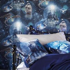 Blue Magical Kingdom Wallpaper Harry Potter Style Design By Arthouse