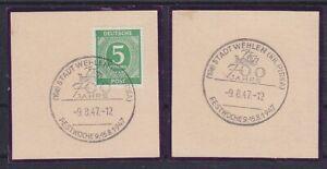 Alliierte-Besetzung-915-mit-SST-Stadt-Wehlen-Festwoche-1947-u-SST-Briefstuecke