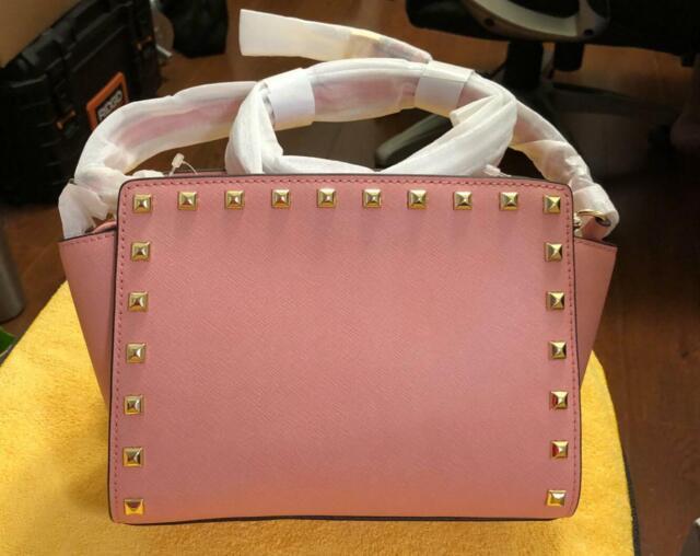 e6eb77506fd6 Michael Kors Medium Selma Stud Leather Crossbody Bag 30T3GSMM2L for ...
