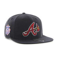 Atlanta Braves '47 Brand MLB Snapback Hat Cap Tomahawk Flat Brim Sure Shot Hat