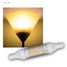 R7s LED-Slim-iluminó 78mm blanco cálido 490lm 5w 230v, bombilla pera lámpara