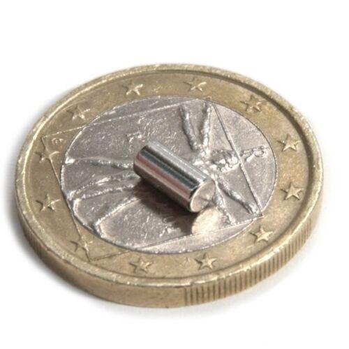 Nickel Haftkraft 400g NdFeB 40 x Stabmagnet Magnet-Stab Ø 3 x 6mm Neodym N48